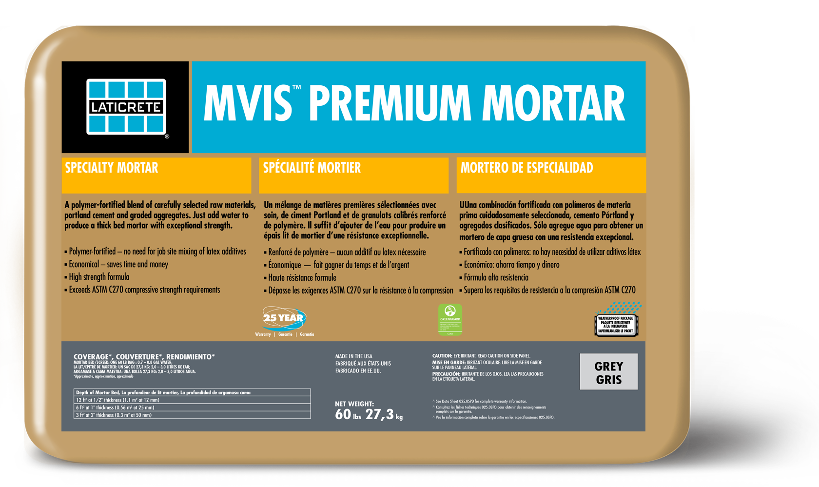 MVIS™ Premium Mortar Bed